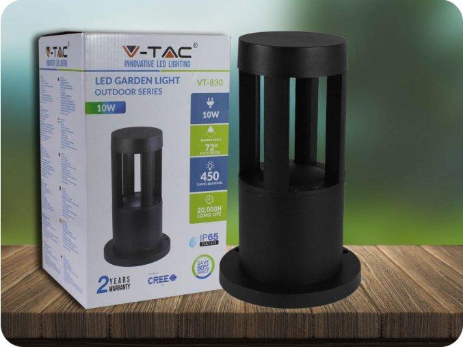 LED LAMPA OGRODOWA 10W (450 LM), IP65, CZARNA