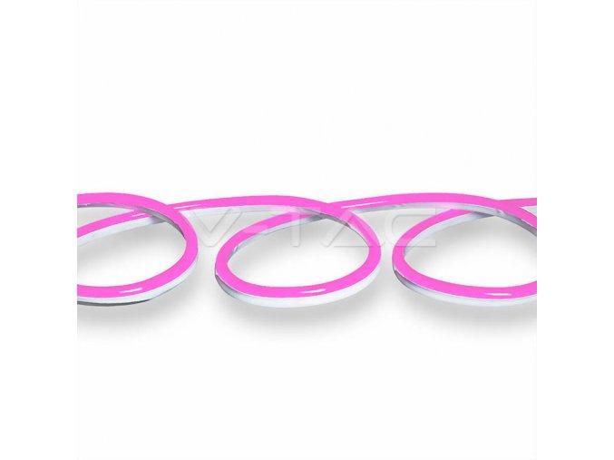 LED NEON FLEX, Wąż, różowy, 10m