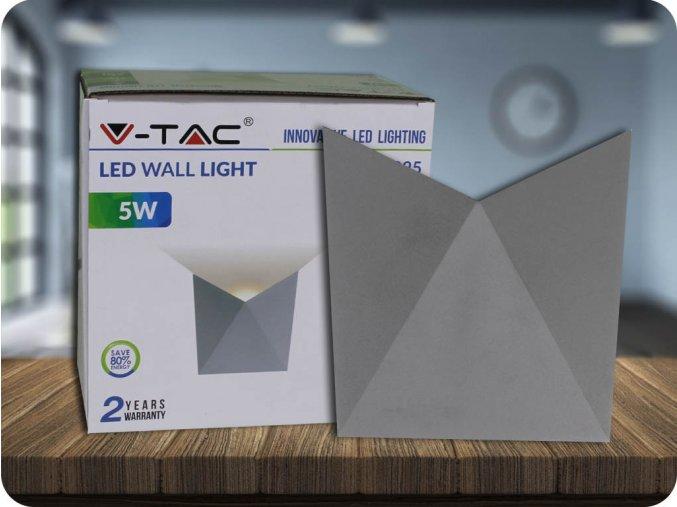 LED KINKIET 5W (550 LM), IP65, SZARY