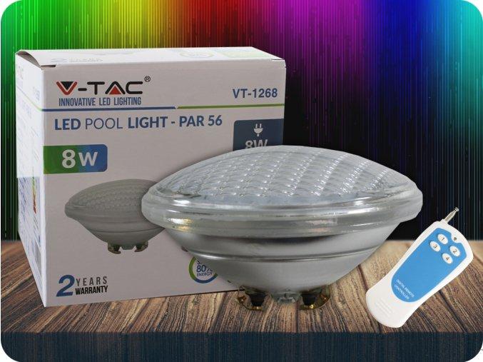 Żarówka basenowa LED 8W (800lm), PAR56, 12V, IP68, RGB