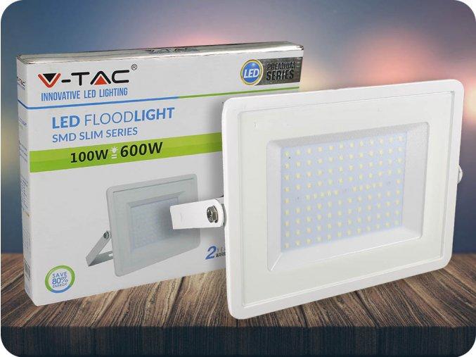 Naświetlacz  SLIM LED 100W (8500LM), biały