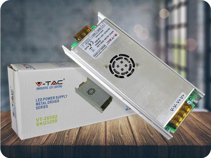 ZASILACZ METALOWY DO TAŚM LED 350W/30A, IP20