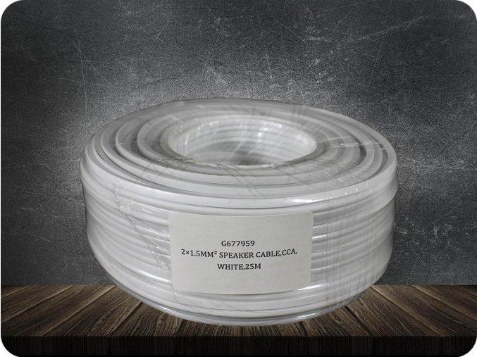PRZEWÓD DWUŻYŁOWY CCA 2x1,5 mm2,  biały