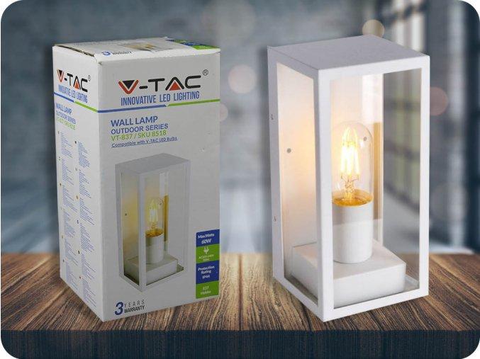 LED LAMPA ŚCIENNA, 1xE27, biała, IP44