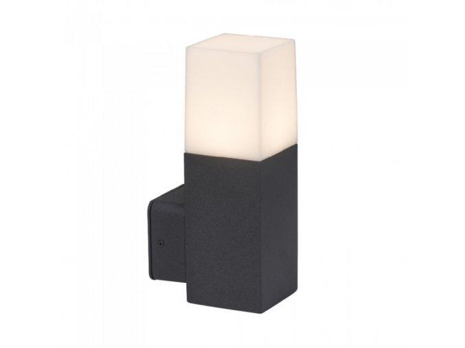 LED LAMPA ŚCIENNA, 1xGU10, 22 cm, czarna/biała, IP54