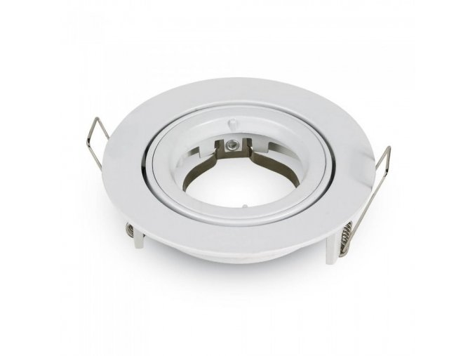 Oprawa  na GU10, okrągła, obrotowa, aluminiowa, biała