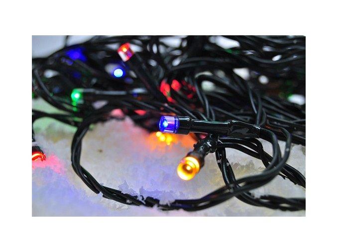 Zewnętrzny łańcuszek świąteczny LED firmy Solight, 200 diod LED, 20m, przewód 3m, 8 funkcji, timer, IP44, wielokolorowy