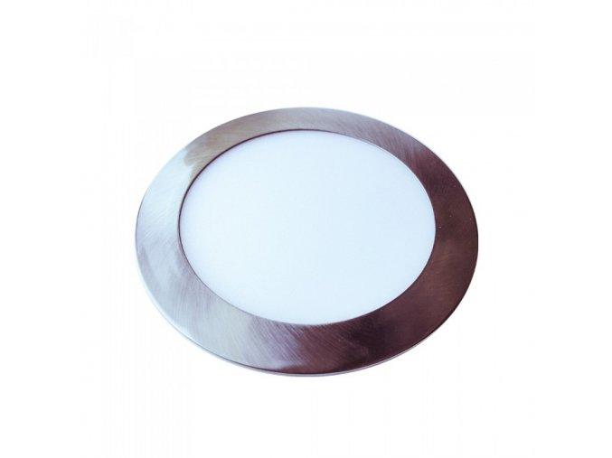 Wbudowany panel LED z zasilaczem, 24 W (2000 Lm), satyna nikiel, okrągły