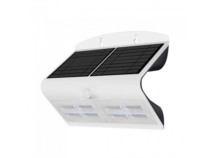 LED Lampa Solarna z czujnikiem ruchu, 7W (800lm), biało-czarna, IP65, 4000K