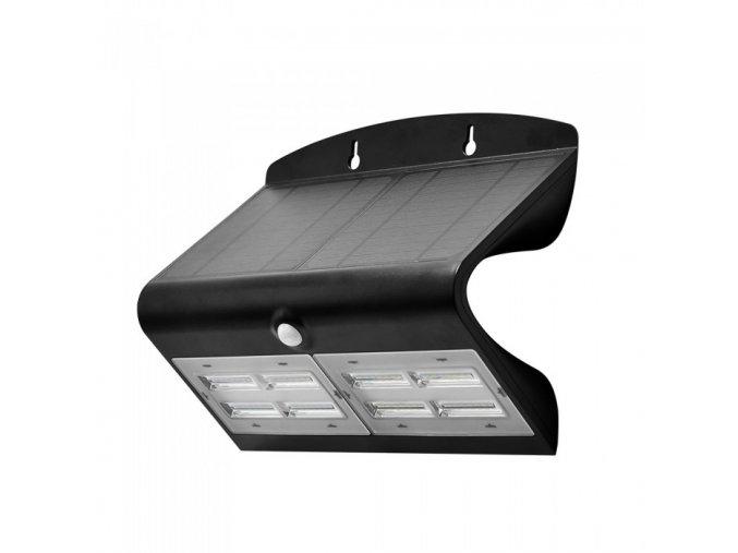 LED Lampa Solarna z czujnikiem ruchu, 7W (800lm), czarno-biała, IP65, 4000K