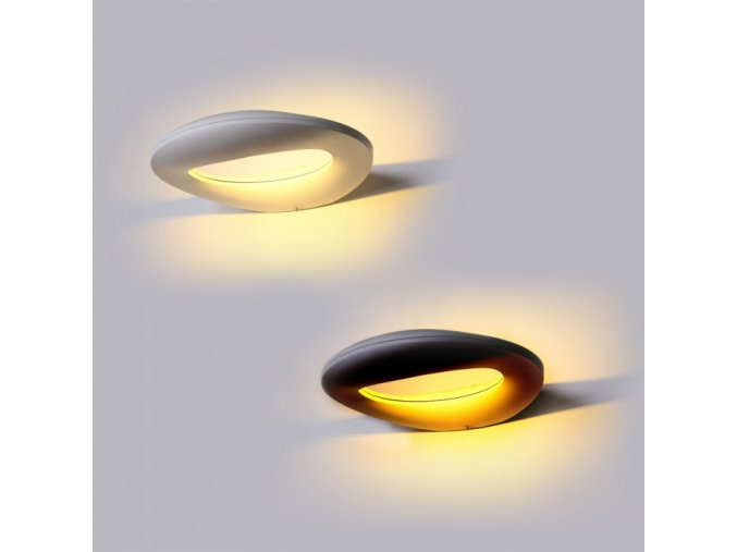 10W LED Kinkiet (1100lm), czarny, IP65, 3000K