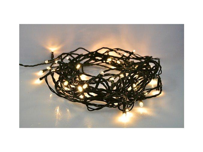 Zewnętrzny łańcuszek świąteczny LED firmy Solight, 200 diod LED, 10m, przewód 3m, 8 funkcji, timer, IP44,  CIEPŁA BIAŁA