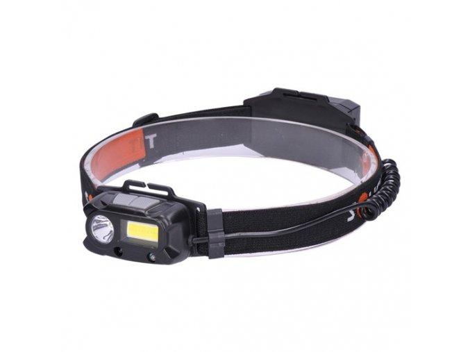Czołówka LED 3W + COB, Cree, 150lm + 60lm, Lion