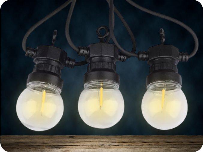 Łańcuch świetlny LED, 5m, 10x0,4W, 350lm, IP44, 3000K