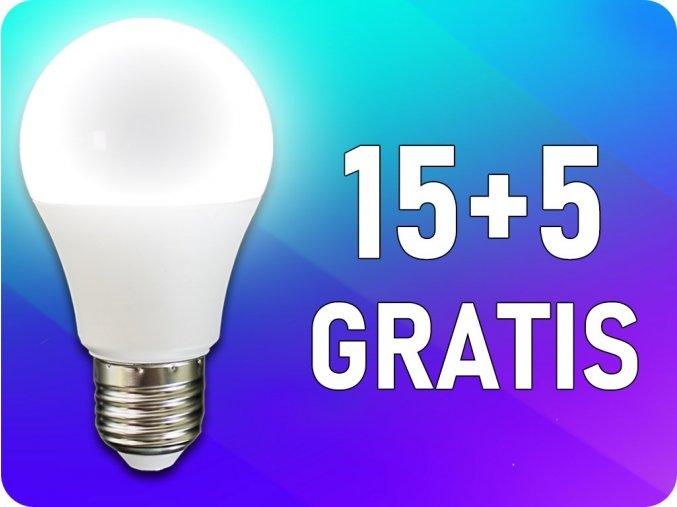 ★E27 LED Żarówka 9W (806 lm),  A60, 15+5 gratis!