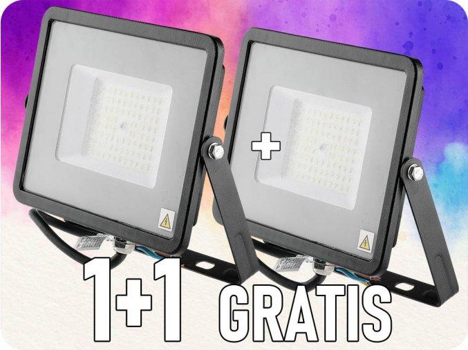 Reflektor LED 50W, 120lm/W, (6000lm) Czarny, Samsung Chip, 1+1 gratis!