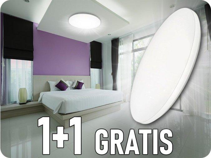 Lampa sufitowa LED 18W (1080lm), zmiana koloru 3000K-6000, 1+1 gratis!
