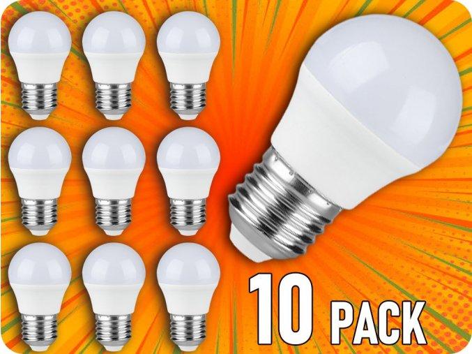 Żarówka LED E27 5,5W, 470lm, chip SAMSUNG, G45, opakowanie 10 sztuk!