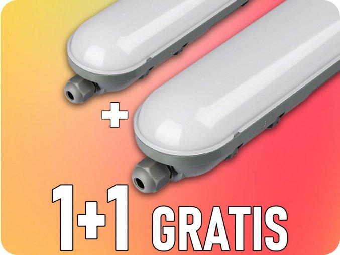 LED Lampa PC/PC  18W (1400 lm), 600mm, 1+1 gratis!
