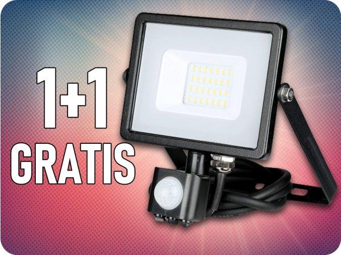 20W LED NAŚWIETLACZ z czujnikiem SMD, Samsung Chip, 1+1 gratis!