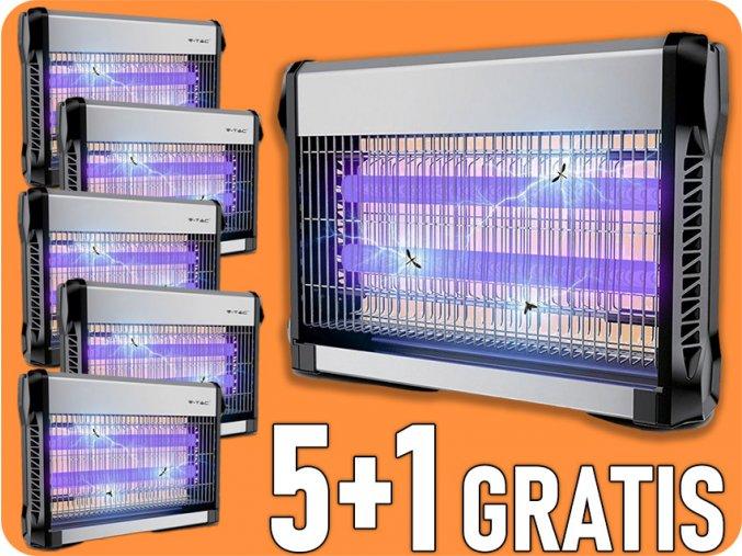 Elektroniczna łapka na owady, 2x15W, 5+1 gratis!