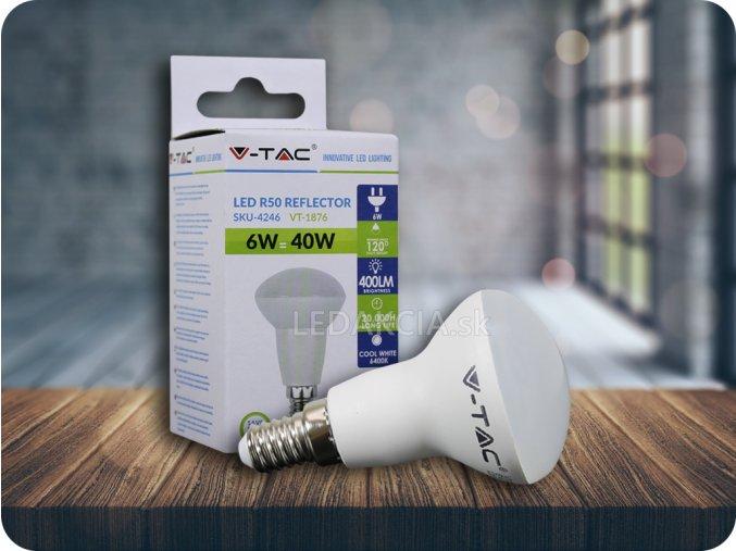 E14 Żarówka LED 6W, r50,  ciepła biała