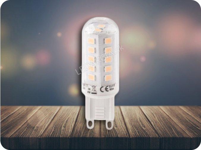 G9 Żarówka LED 3W,  ciepła biała, ściemniana