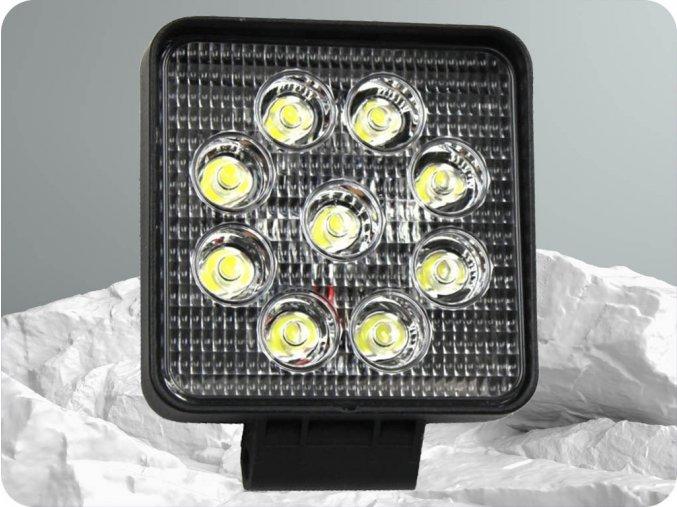 LED Epistar Lampa robocza, kwadratowa, 27W, 2200 lm, 9-32V, IP67