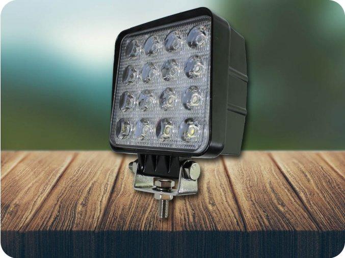 LED Epistar Lampa robocza, kwadratowa, 48W, 3071 lm, 9-32V, IP67