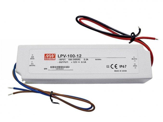 Zasilacz instalacyjny MEAN WELL do Taśm LED 102W/8,5A