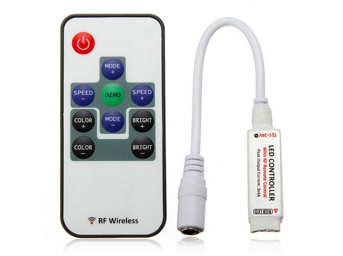 Kontroler LED RGB z pilotem 72W/6A