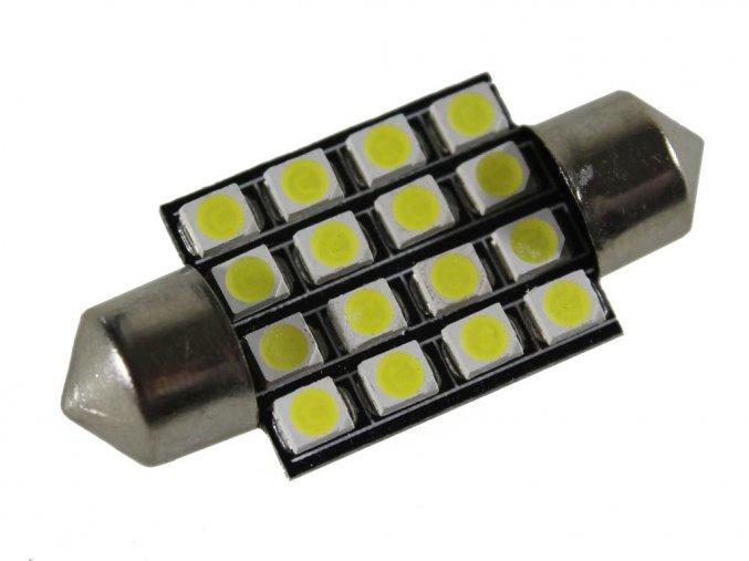 Żarówka samochodowa LED C5W, 16 x led, 36mm