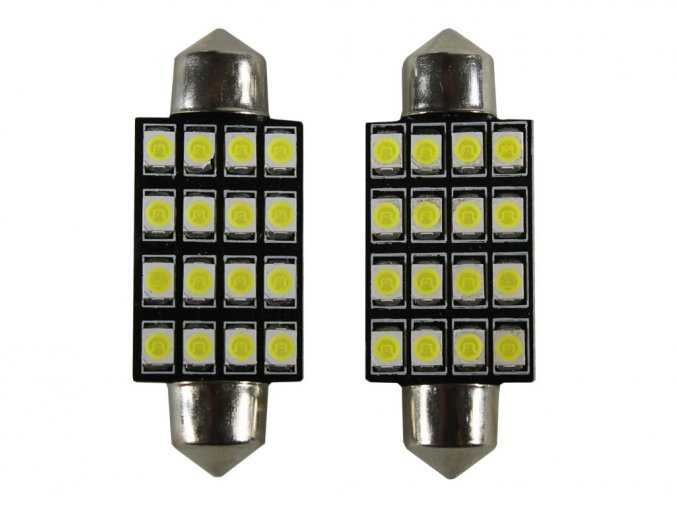 Żarówka samochodowa LED C5W, 16 X LED, 41MM
