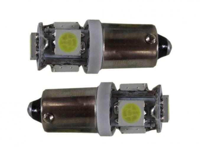Żarówka samochodowa LED T4W BA9S, 5 x led