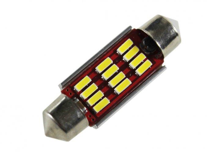 Żarówka samochodowa LED C5W, 12 x led, 39mm