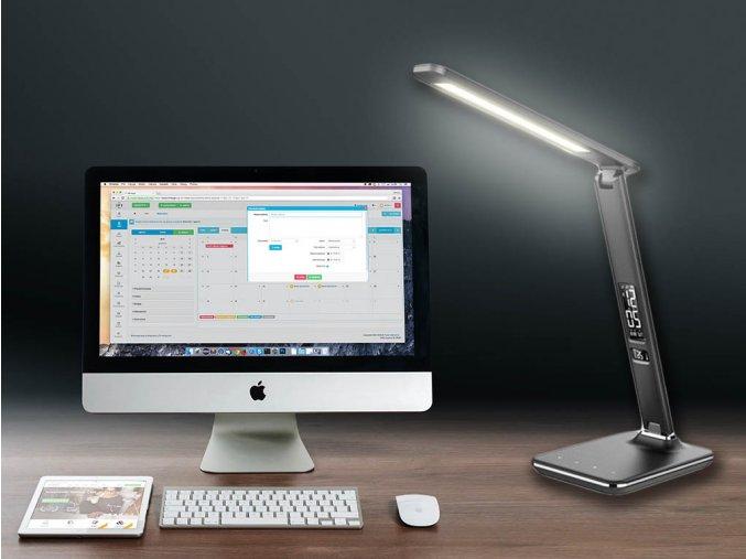 Lampa biurkowa LED DISPLAY 9W, czarna, ściemniana