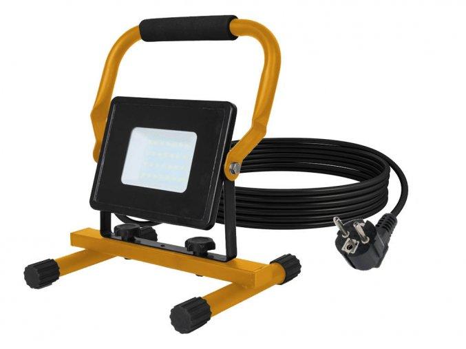 Naświetlacz LED ze stojakiem 30W, 2550 lm, czarny, IP65