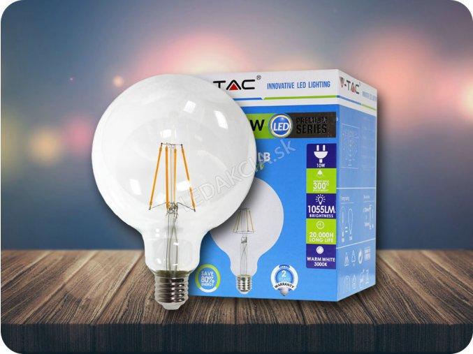 E27 LED Retro Filament Żarówka 4W, G125, 2700K
