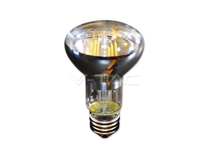 E27 LED Retro Filament Żarówka 6W, R63, biała ciepła 2700K