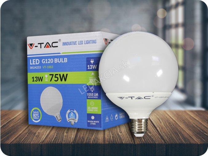 E27 Żarówka LED 13W, G120 (1055lm), ściemniania, 3000K