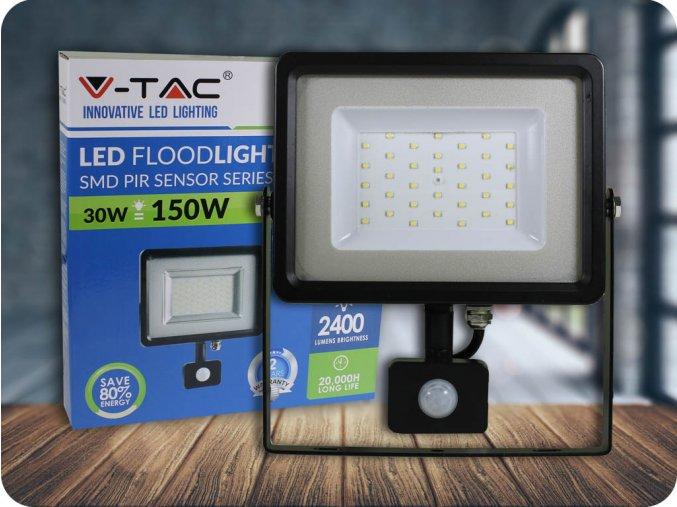 Naświetlacz LED z czujnikiem ruchu 30W (2400 lm), czarny