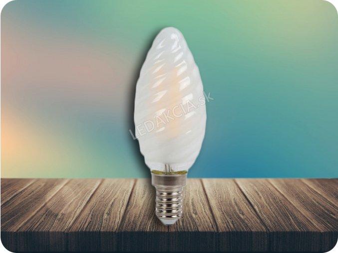 E14 LED RETRO FILAMENT Żarówka 4W, świeca, biała ciepła 2700K