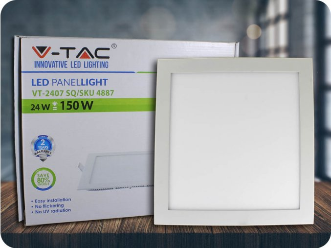 Panel LED 24W (2000 lm), kwadratowy