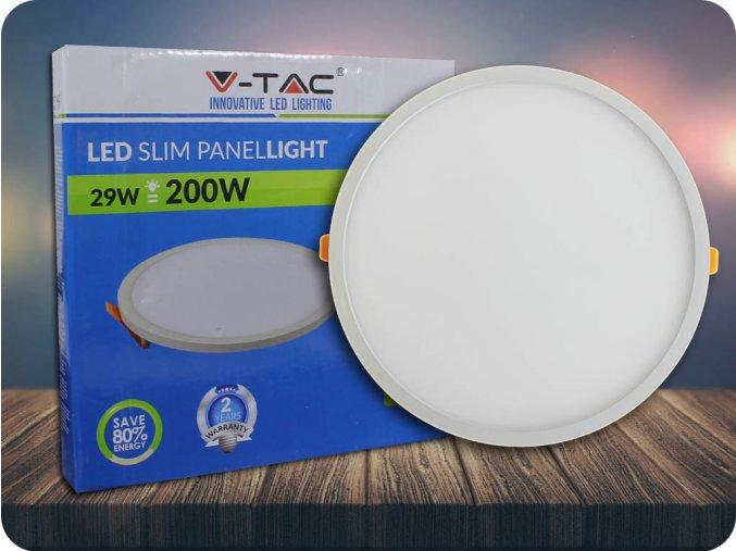 Panel bezramkowy LED z zasilaczem 29W, 2800lm, okrągły
