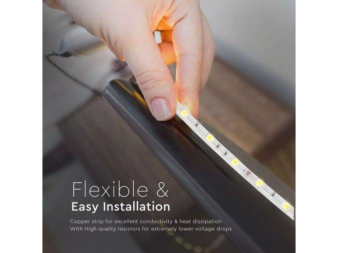 LED Taśma SMD 5050, 4,8W/m, 30LED/m, IP65 wodoszczelna, RGB, 5m