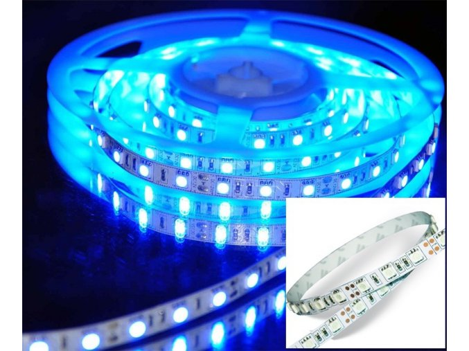 LED Taśma 10,8W/m, SMD 5050, 60LED/m, NIEBIESKA