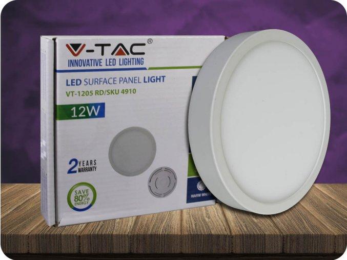 Panel natynkowy LED z zasilaczem 12W, 900lm, koło, PREMIUM