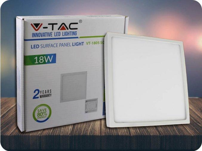 Panel natynkowy LED z zasilaczem, 18W, 1440lm, kwadratowy, PREMIUM