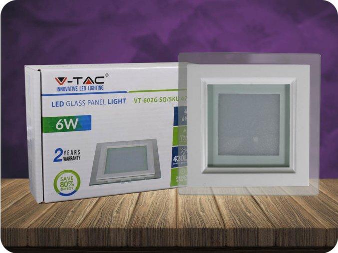 Panel LED 6W (420 lm), szklany