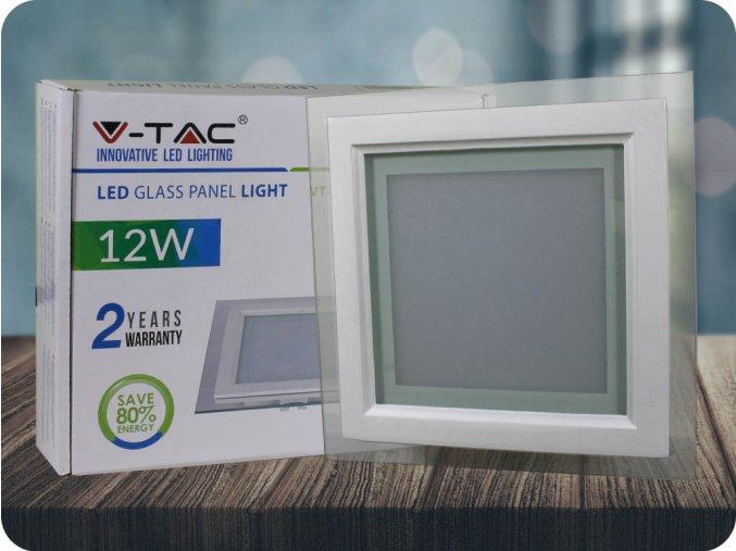 Panel LED 12W (840 lm), szklany